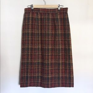 {Vintage} Sag Harbor Tweed Pencil Skirt Sz 14W